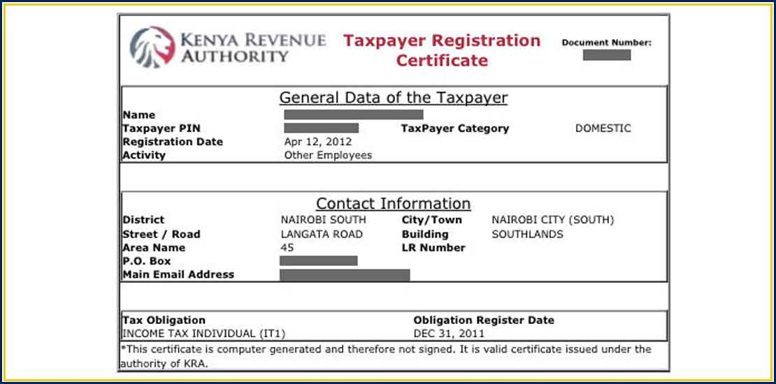 Tax Compliance Certificate Jirani Mwema Business Consultants Ltd